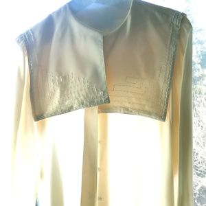 Vintage Oleg Cassini cream silk blouse